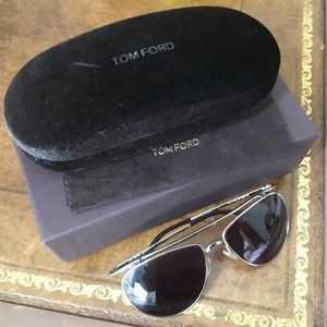 Authentic Tom Ford sunglasses silver James TF 191